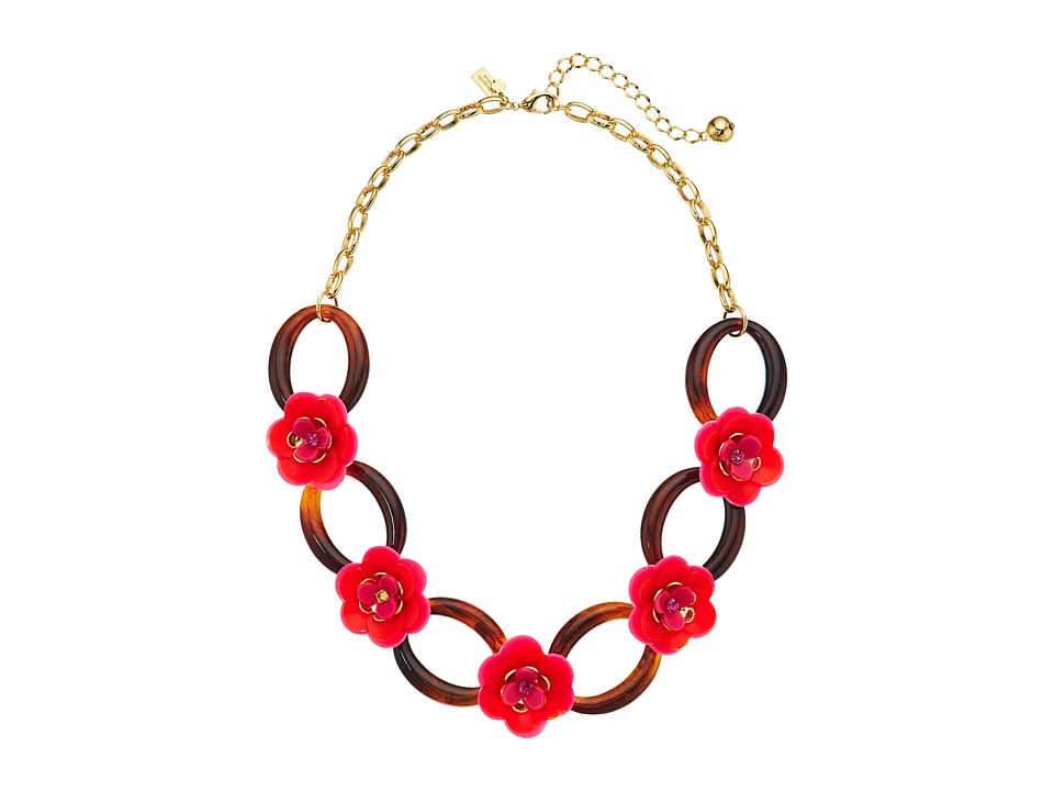Kate Spade New York - Rosy Posies Link Necklace (Neutral Multi) Necklace