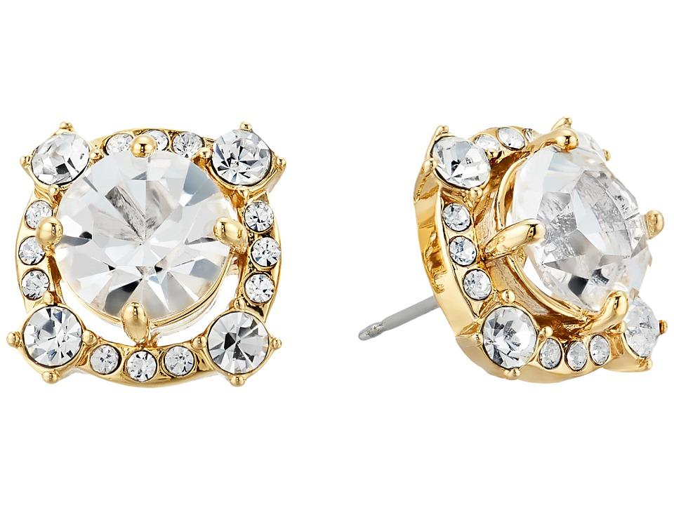 Kate Spade New York - Crystal Cascade Studs Earrings (Clear/Gold) Earring