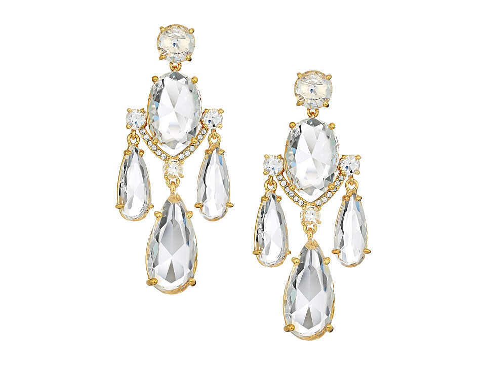Kate Spade New York - Crystal Cascade Statement Earrings (Clear/Gold) Earring