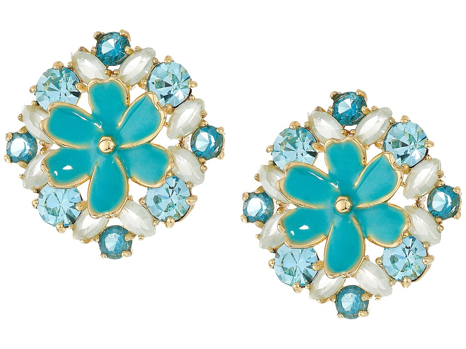 Kate Spade New York - Here Comes The Sun Statement Studs Earrings (Blue Multi) Earring