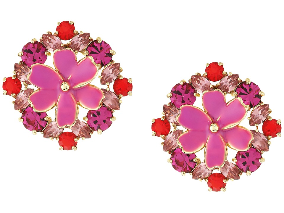 Kate Spade New York - Here Comes The Sun Statement Studs Earrings (Pink Multi) Earring