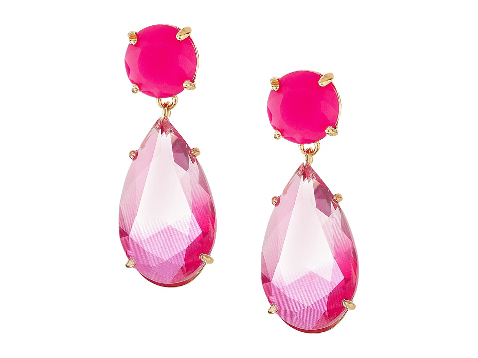 Kate Spade New York - Here Comes The Sun Drop Earrings (Pink Multi) Earring