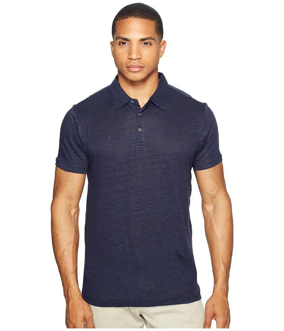 Scotch & Soda - Classic Polo in Lightweight Linen Quality (Denim Blue) Men's Clothing