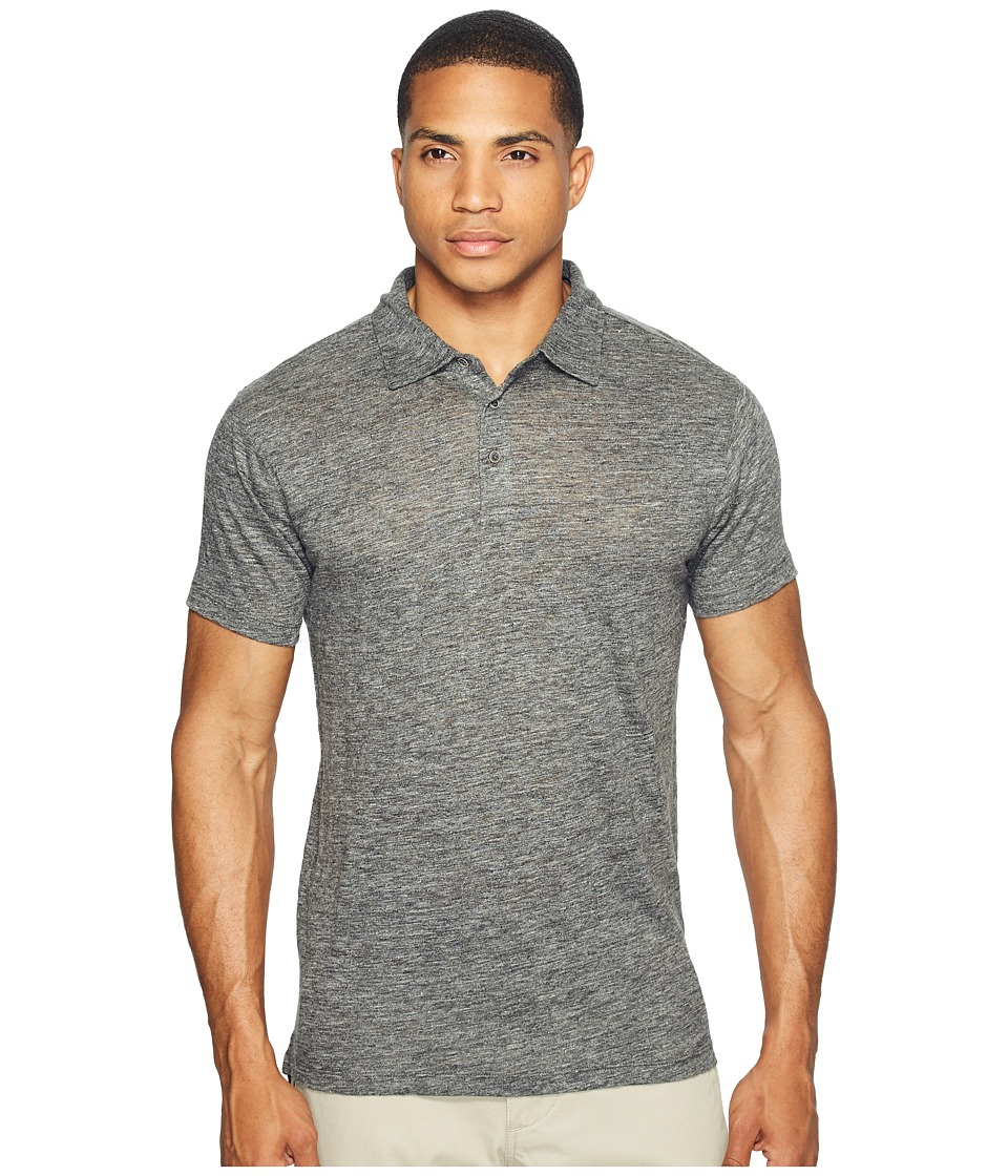 Scotch & Soda - Classic Polo in Lightweight Linen Quality (Graphite Melange) Men's Clothing