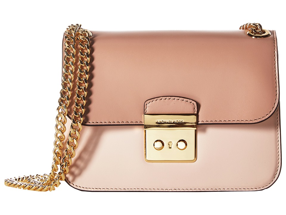 MICHAEL Michael Kors - Sloan Editor Medium Chain Shoulder (Soft Pink/Ecru/Fawn) Shoulder Handbags
