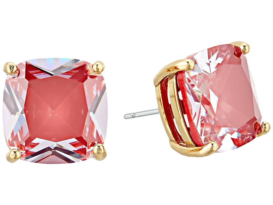 Kate Spade New York - Enamel Small Square Studs (Red) Earring
