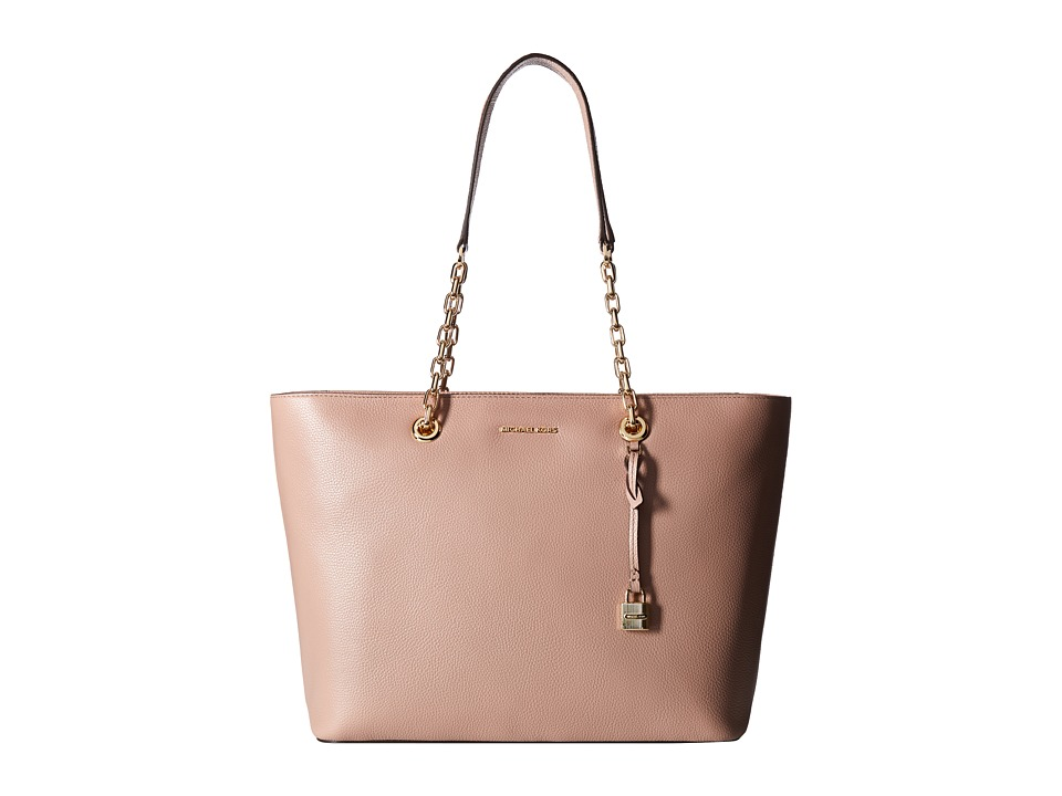 MICHAEL Michael Kors - Mercer Chain Medium Top Zip Mf Tote (Fawn) Tote Handbags