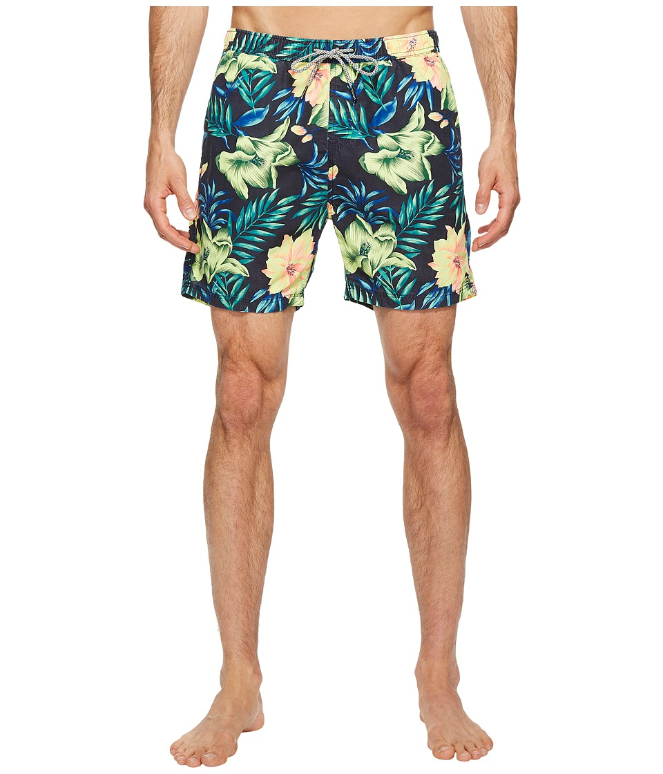 Scotch & Soda - Medium Length Swim Shorts in Cotton/Nylon Quality with All Over (Combo G) Men's Swimwear