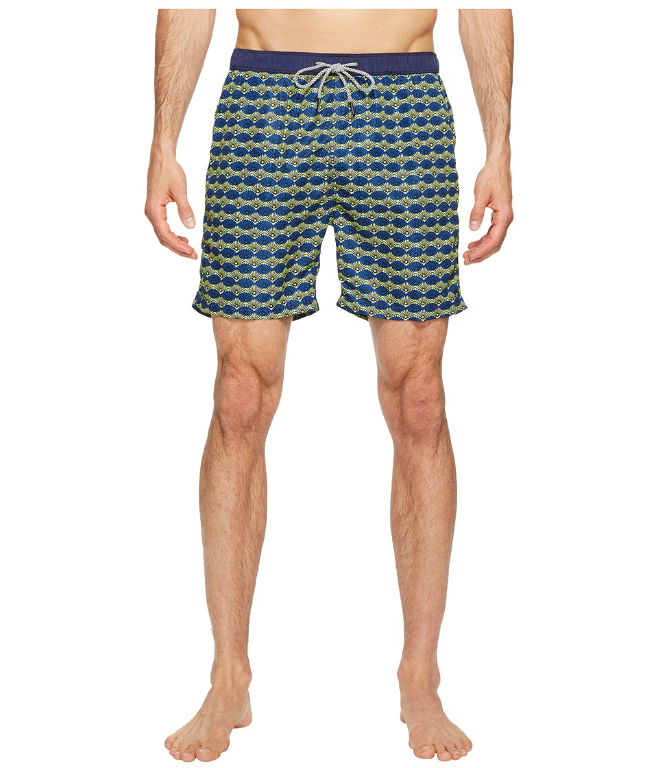 Scotch & Soda - Medium Length Swim Shorts in Fine Peached Quality with Pattern (Combo C) Men's Swimwear