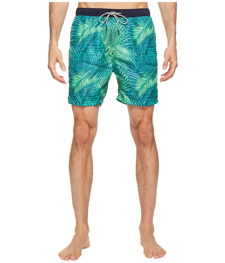 Scotch & Soda - Medium Length Swim Shorts in Fine Peached Quality with Pattern (Combo F) Men's Swimwear