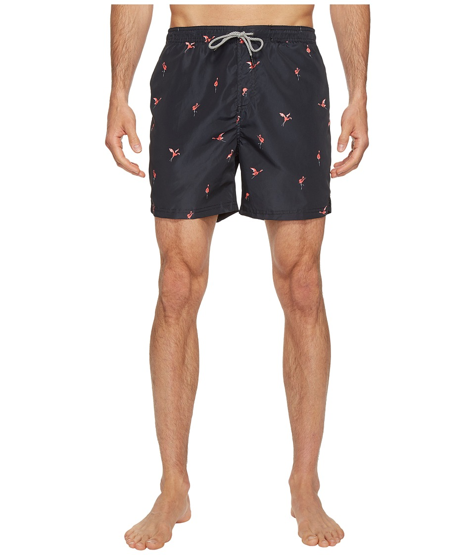 Scotch & Soda - Swim Shorts in Polyester Quality with All Over Print and Contrast Inside Waistband (Combo A) Men's Swimwear