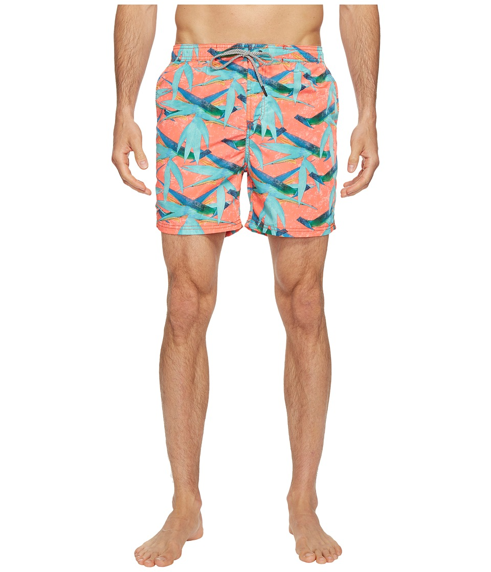 Scotch & Soda - Swim Shorts in Polyester Quality with All Over Print and Contrast Inside Waistband (Combo G) Men's Swimwear
