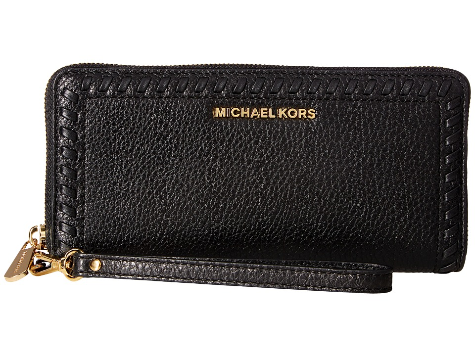 MICHAEL Michael Kors - Lauryn Travel Continental (Black) Handbags