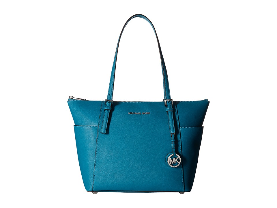 MICHAEL Michael Kors - Jet Set Item East/West Top Zip Tote (Peacock) Tote Handbags
