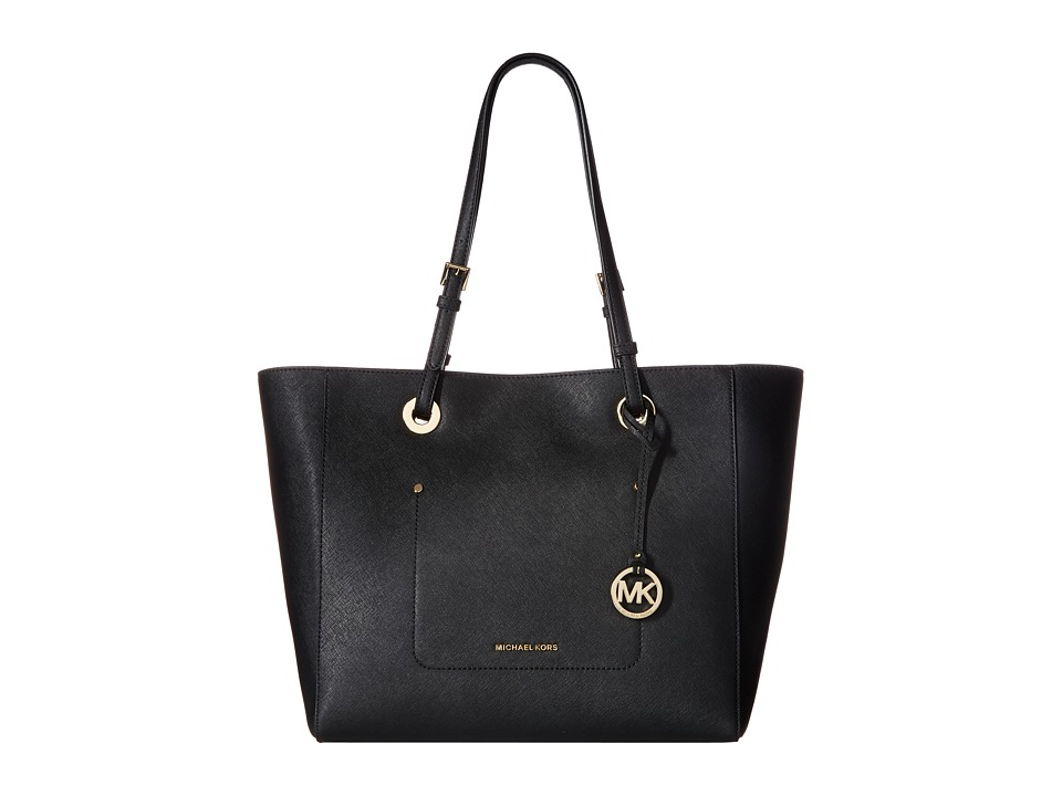 MICHAEL Michael Kors - Walsh Large East/West Top Zip Tote (Black) Tote Handbags