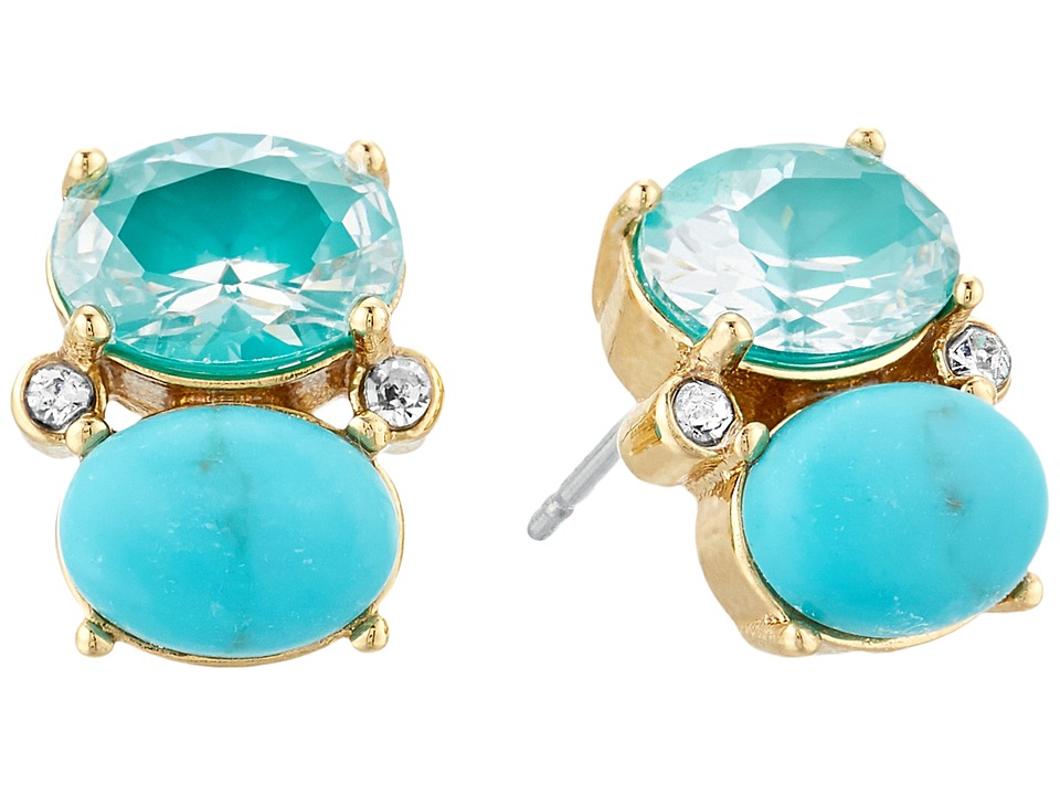 Kate Spade New York - Shine On Drop Studs Earrings (Turquoise Multi) Earring
