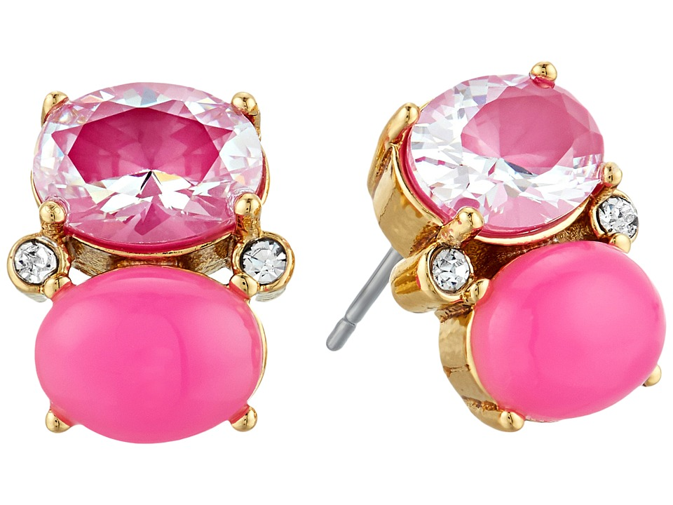 Kate Spade New York - Shine On Drop Studs Earrings (Pink Multi) Earring
