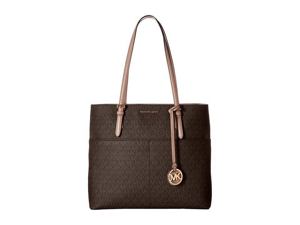 MICHAEL Michael Kors - Bedford Large Pocket Tote (Brown/Fawn) Tote Handbags