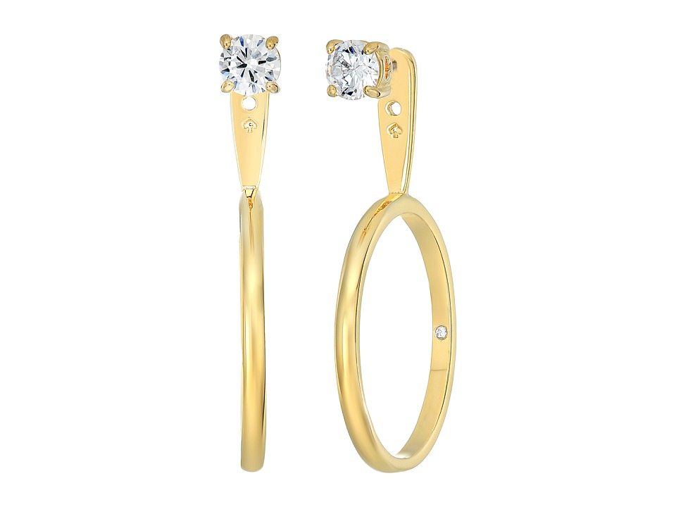 Kate Spade New York - Shine On Stone Hoop Ear Jackets Earrings (Clear/Gold) Earring