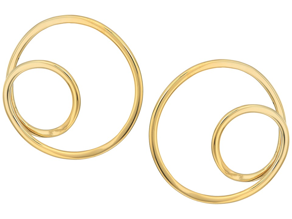 Kate Spade New York - Shine On Twisted Hoop Earrings (Gold) Earring