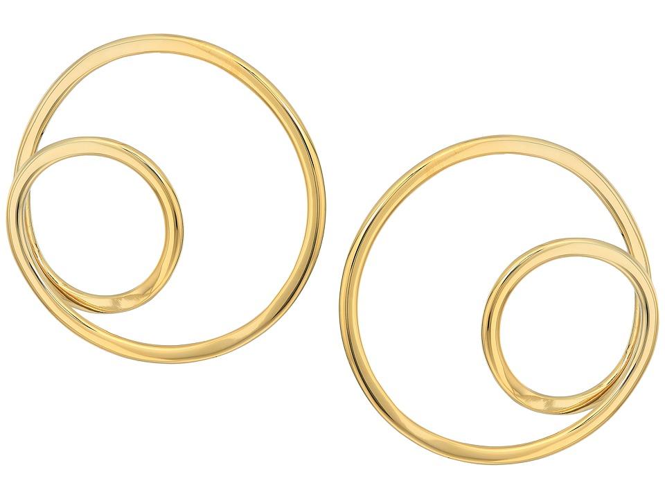 Kate Spade New York - Shine On Twisted Hoop Earrings (Gold) Earring