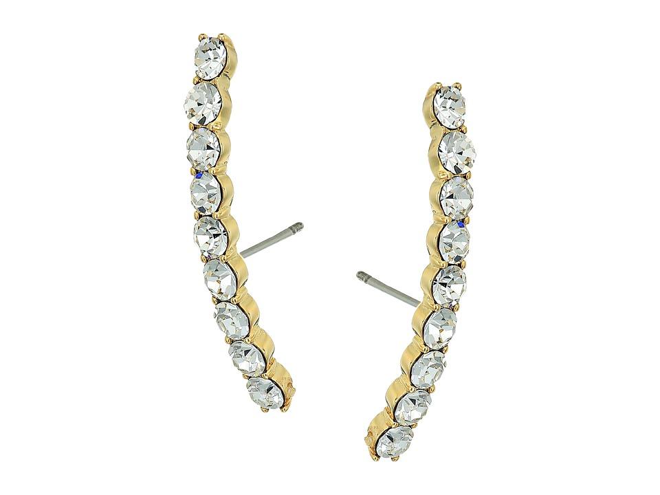 Kate Spade New York - Shine On Thin Stone Cuff Earrings (Clear) Earring