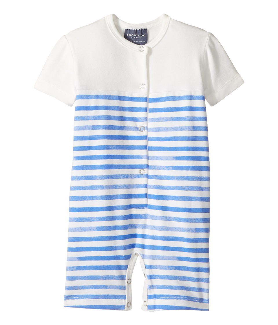 Toobydoo - Henley Shortie Jumpsuit (Infant) (Blue/White) Boy's Jumpsuit & Rompers One Piece