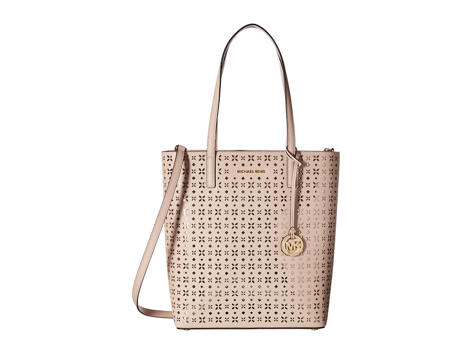 MICHAEL Michael Kors - Hayley Large North/South Top Zip Tote (Soft Pink) Tote Handbags