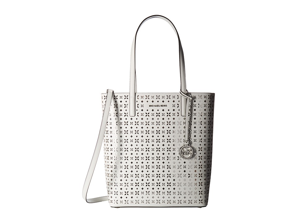 MICHAEL Michael Kors - Hayley Large North/South Top Zip Tote (Optic White) Tote Handbags