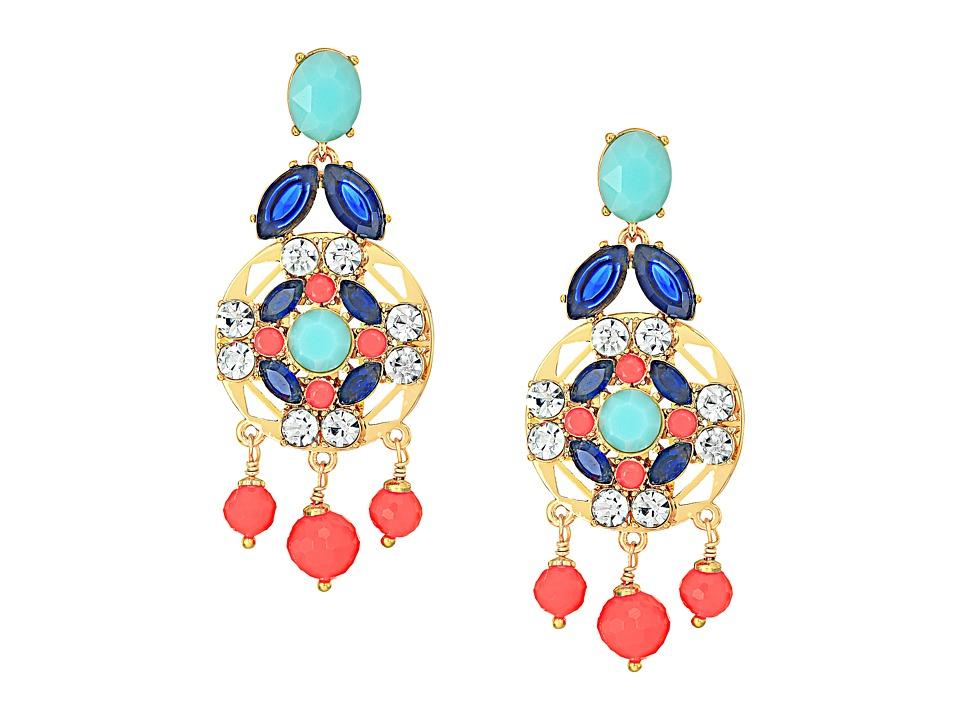 Kate Spade New York - Jeweled Tile Statement Earrings (Multi) Earring