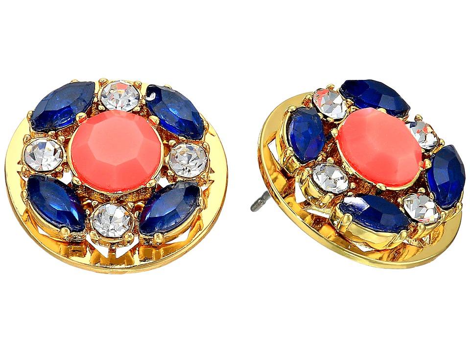 Kate Spade New York - Jeweled Tile Studs Earrings (Multi) Earring