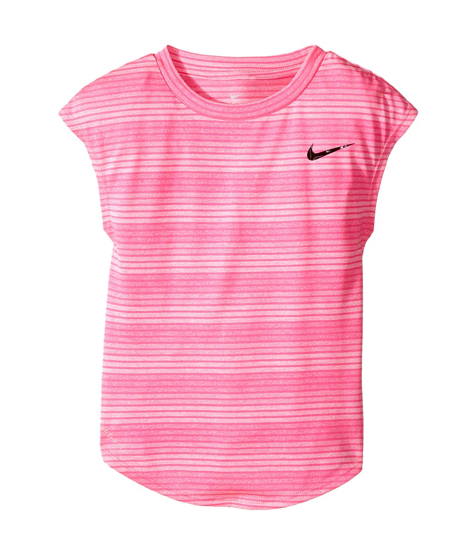 Nike Kids - Stripe Heather Gradient Dri-FIT Tee (Toddler) (Hyper Pink) Girl's T Shirt