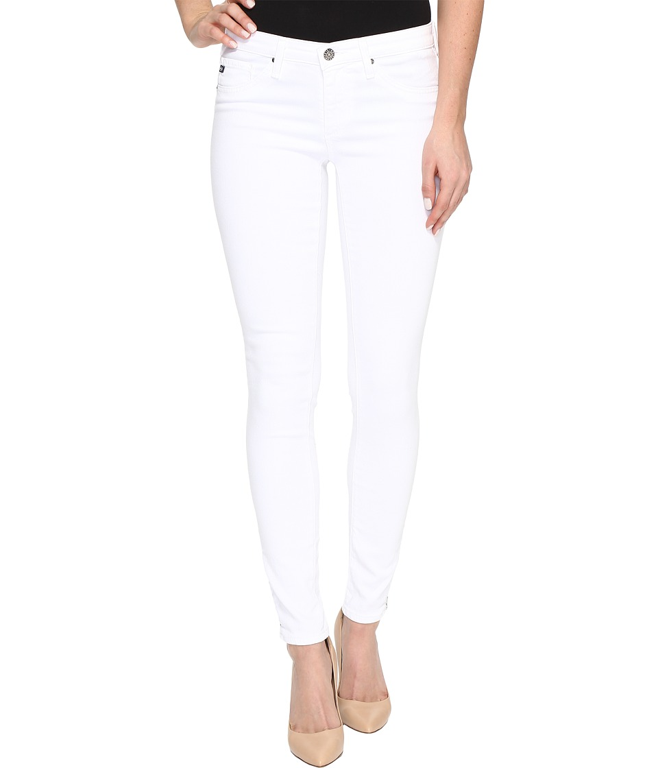 AG Adriano Goldschmied - Zip-Up Leggings Ankle in White (White) Women's Jeans