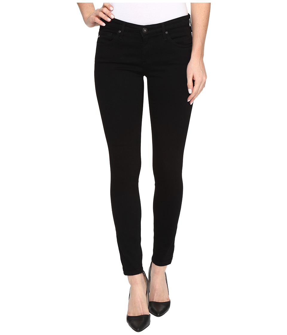 AG Adriano Goldschmied - Zip-Up Leggings Ankle in Super Black (Super Black) Women's Jeans