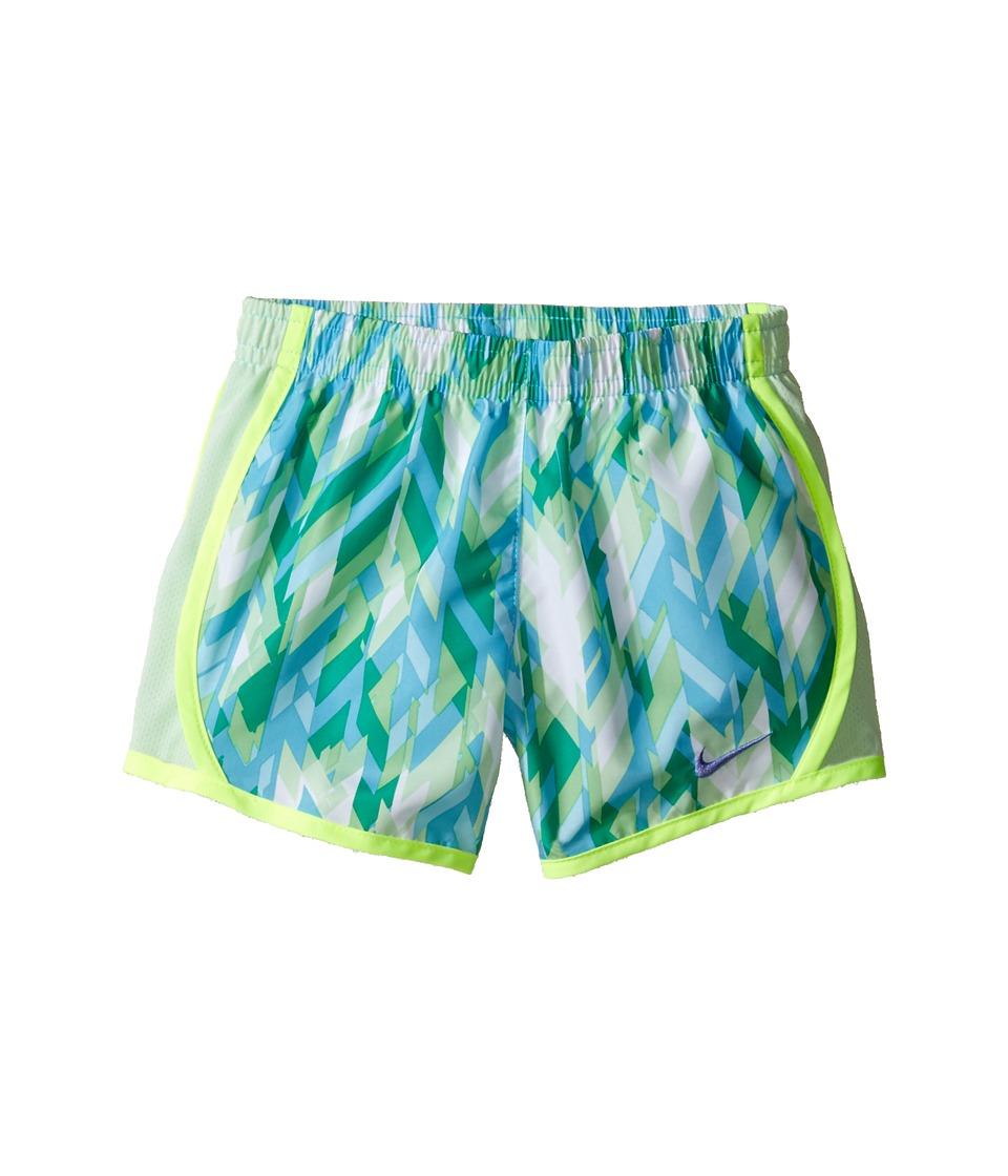 Nike Kids - Tempo Dry Shorts All Over Print (Little Kids) (Volt/Vivid Sky) Girl's Shorts