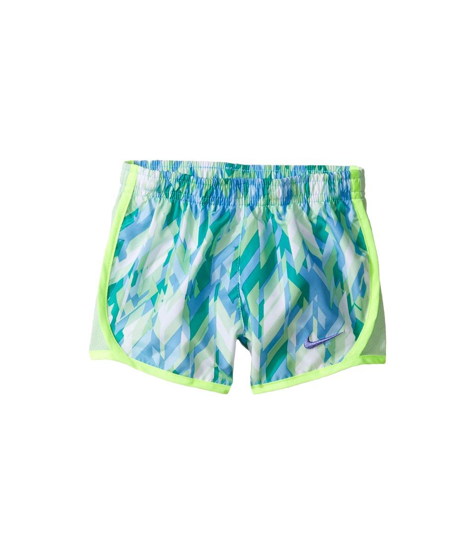 Nike Kids - Tempo Dry Shorts All Over Print (Toddler) (Volt/Vivid Sky) Girl's Shorts
