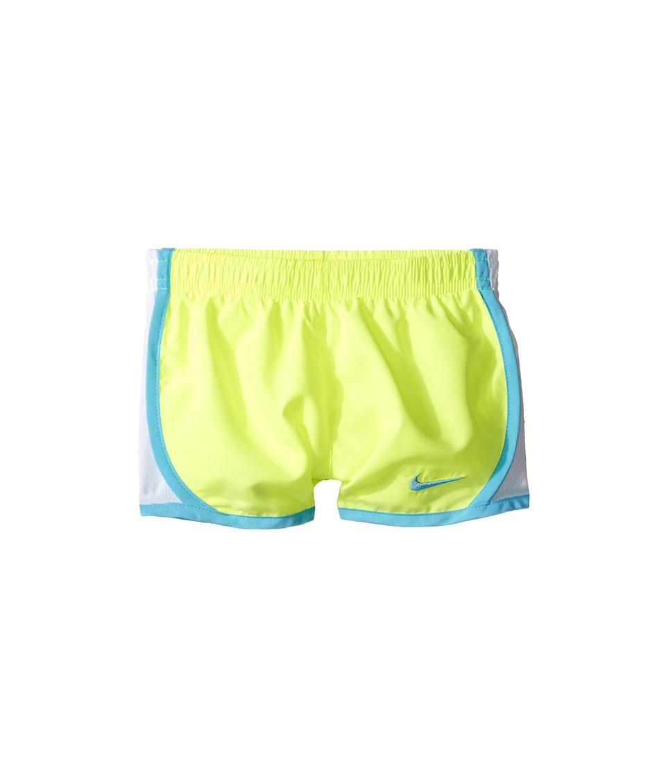 Nike Kids - Tempo Short (Toddler) (Volt/Vivid Sky) Girl's Shorts