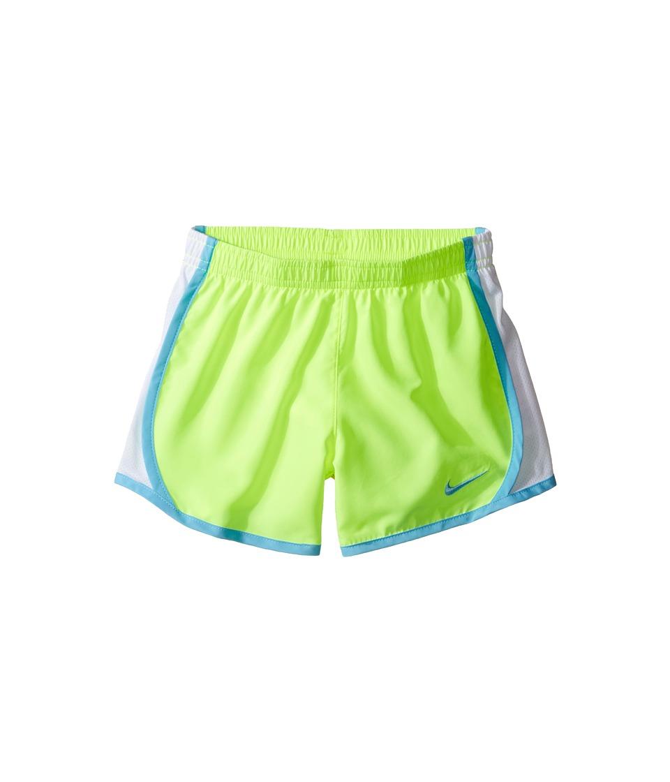 Nike Kids - Dri-FIT Woven Short (Toddler/Little Kids) (Volt/Vivid Sky) Girl's Shorts