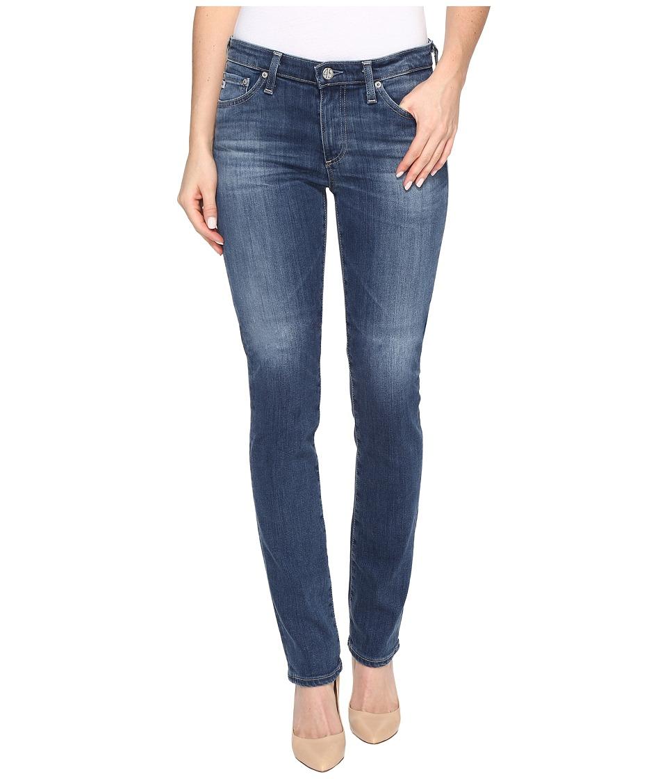 AG Adriano Goldschmied - Harper Mid-Rise Straight Leg in 5 Years Retrograde (5 Years Retrograde) Women's Jeans