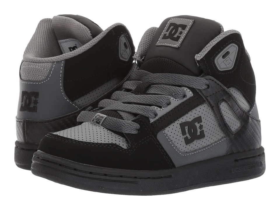 DC Kids - Rebound (Little Kid/Big Kid) (Grey/Black/Grey) Boys Shoes