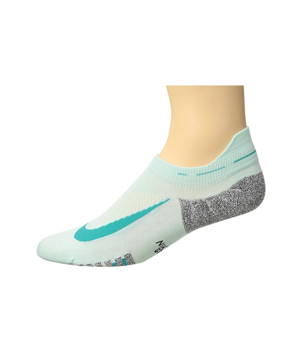 Nike Elite Lightweight No Show Running Socks (Igloo/Turbo Green) No Show Socks Shoes