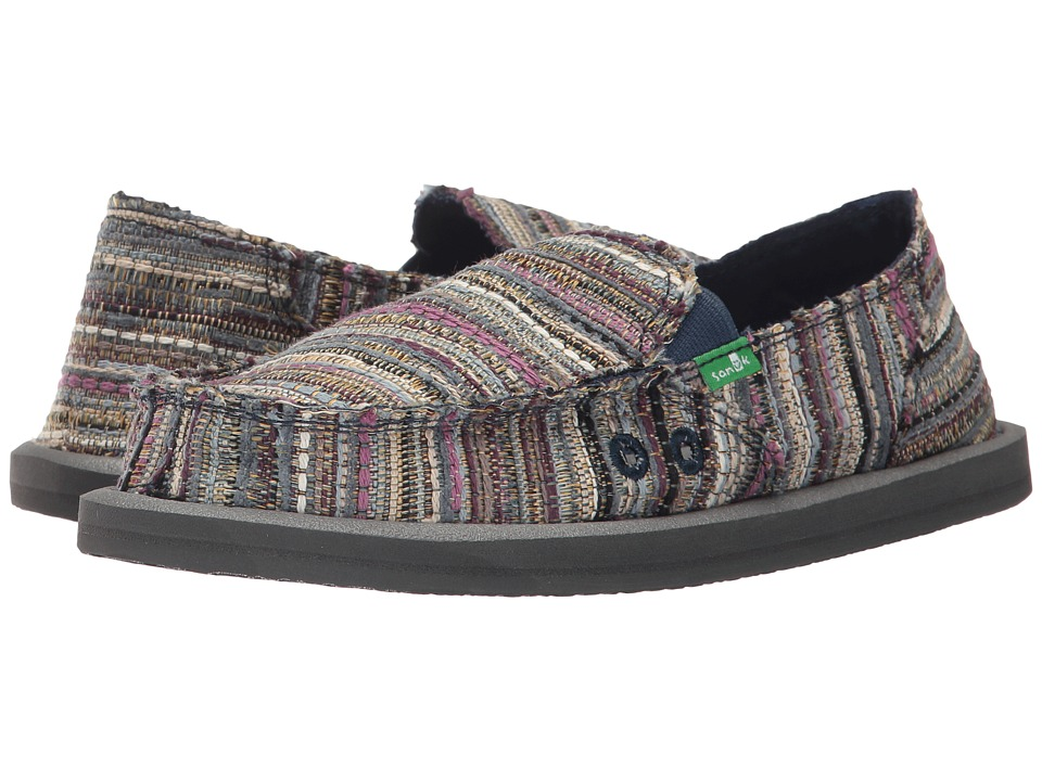 Sanuk - Donna Boho (Navy Boho) Women's Slip on Shoes