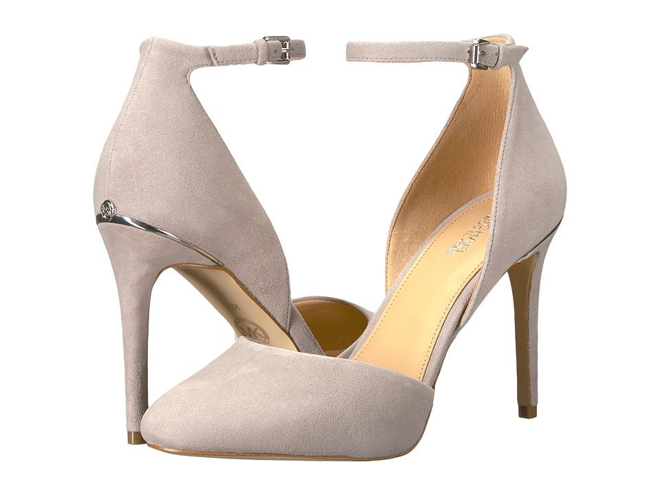 MICHAEL Michael Kors - Georgia Ankle Strap (Pearl Grey) High Heels