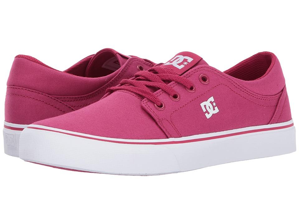 DC Kids Trase TX (Little Kid/Big Kid) (Raspberry) Girls Shoes