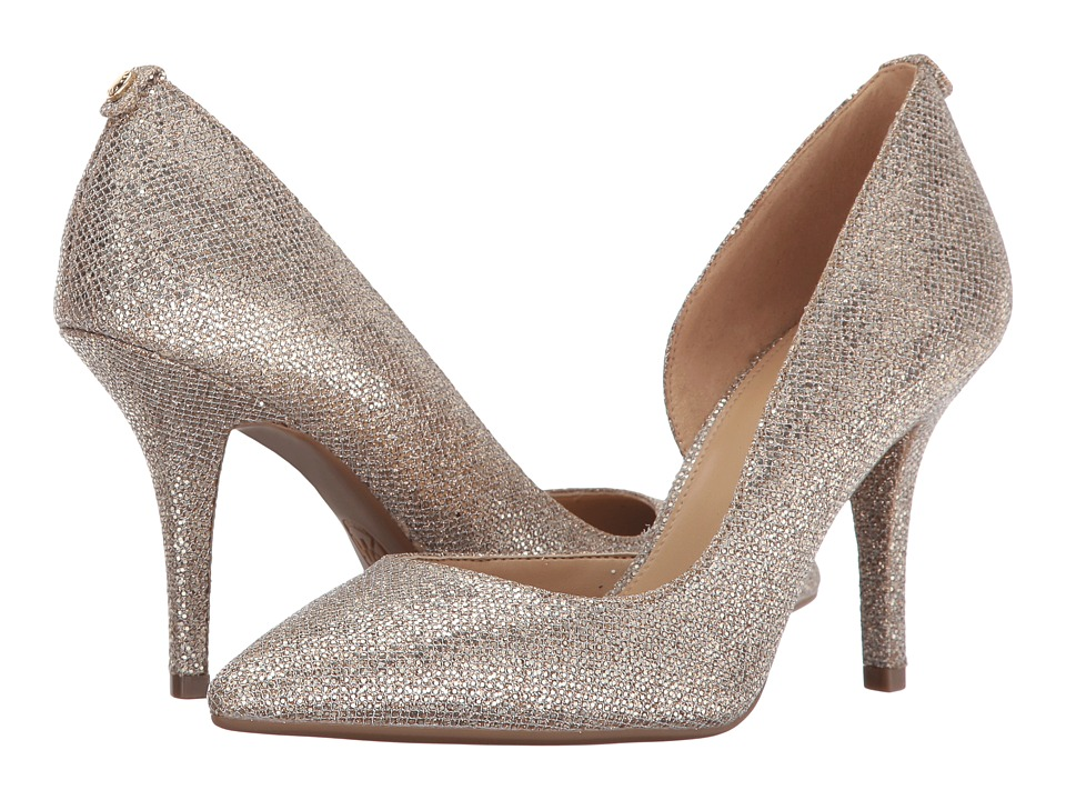 MICHAEL Michael Kors Nathalie Flex High Pump Silver-Sand Shoes