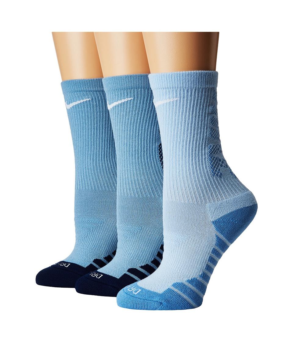 Nike Dry Cushion Crew Training Socks 3-Pair Pack (Multicolor 3) Women