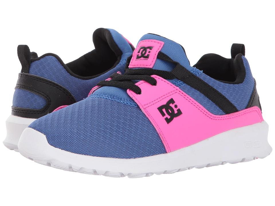 DC Kids Heathrow SE Glow (Little Kid/Big Kid) (Blue/Pink) Girls Shoes