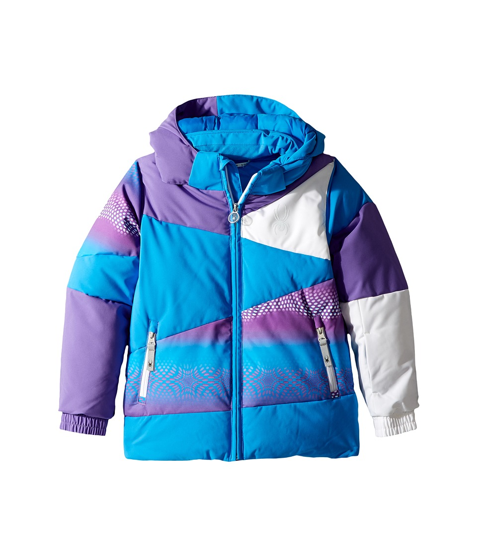 Spyder Kids - Bitsy Duffy Puff Jacket (Toddler/Little Kids/Big Kids) (French Blue/Grape Star/Iris) Girl's Jacket