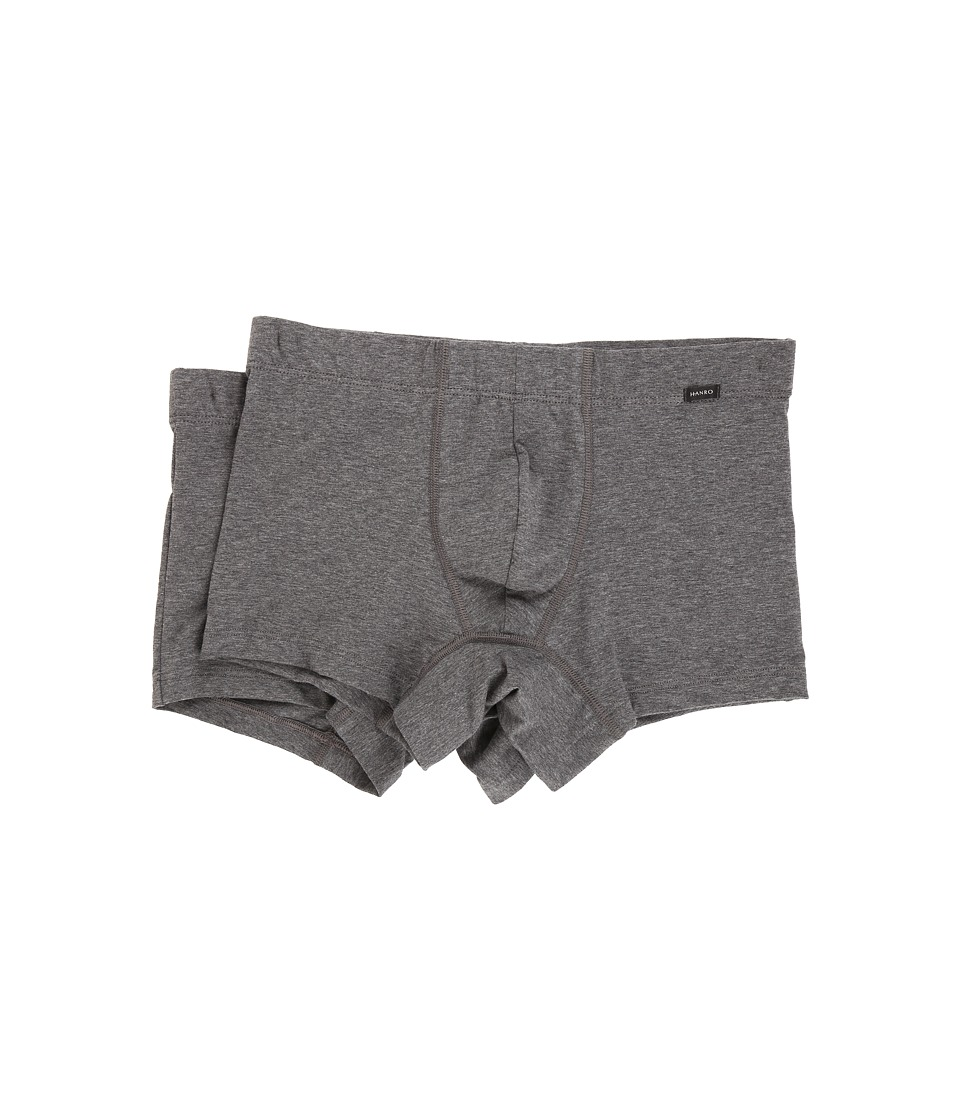 Hanro - Cotton Essentials 2-Pack Boxer Brief (Coal Melange) Men's Underwear