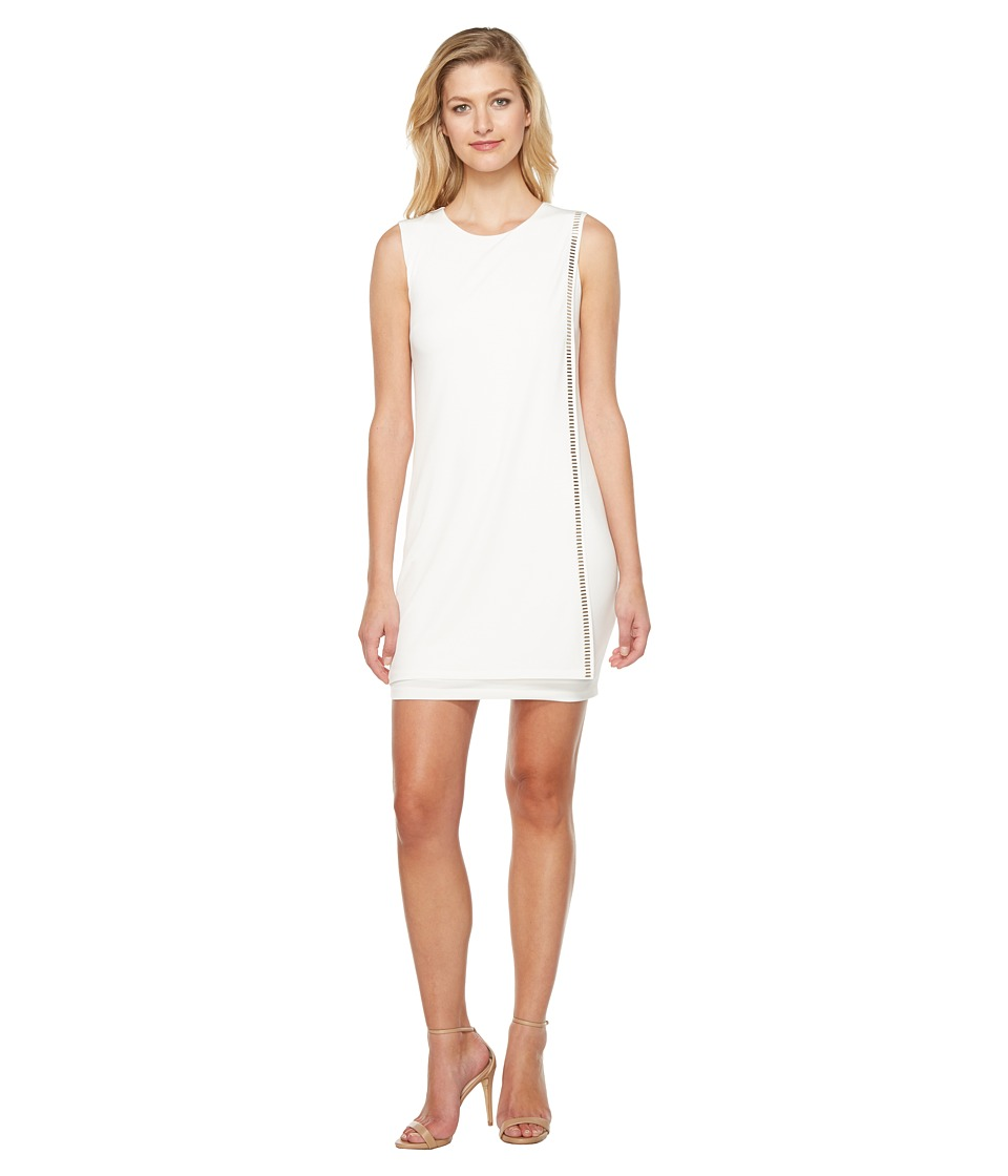 Jessica Simpson - Sleeveless Front Drape Dress (Ivory 1) Women's Dress